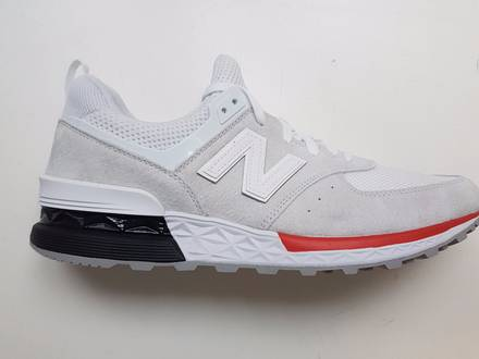 New Balance 574 Sport White/Red NEW MODEL RARE MS574AW - photo 1/8