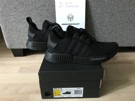 Adidas NMD R1 PK Triple Black 40 2/3, US 7.5 - photo 1/5