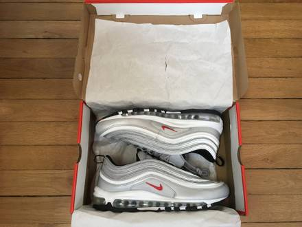 NIKE AIR MAX 97 SILVER BULLET QS 2016 SIZE 10US-9UK-EUR44 - photo 1/8