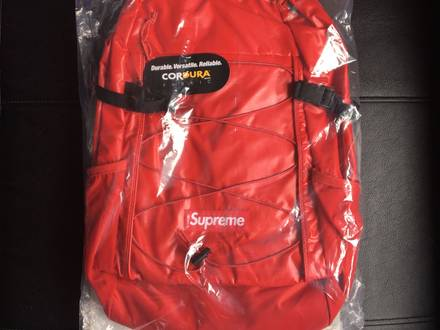 Supreme BackPack Cordura FW17 Red lv | Rouge bag new wrapped suite travel - photo 1/8