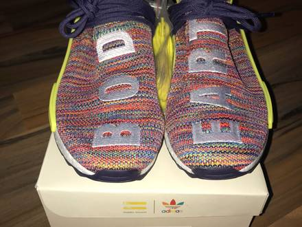Pharrell williams x adidas nmd human race trail multicolor us9 - photo 1/5