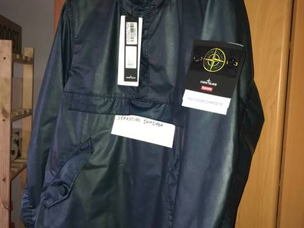 Stone Island x Supreme Poly Cover Anorak Teal Large - photo 1/5