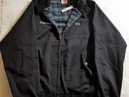 Supreme x Lacoste Harrington Jacket BLACK SMALL - photo 1/5