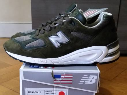 New Balance M990 Green Camo Made In USA 9US 42 1/2 DS - photo 1/5
