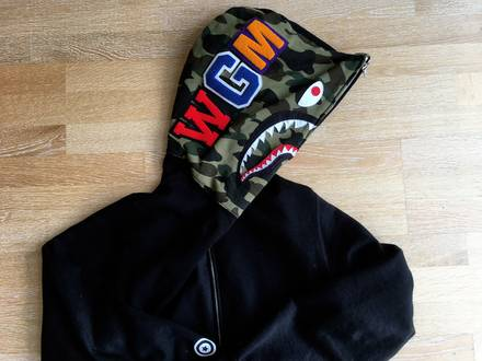 <strong>A</strong> <strong>Bathing</strong> <strong>Ape</strong> . Bape Shark First Camo Hoodie Black XL . 100% Authentic . Receipt - photo 1/8