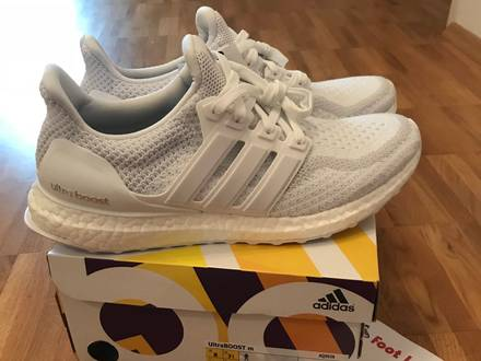 <strong>Adidas</strong> Ultraboost 2.0 <strong>Triple</strong> <strong>White</strong> US 8 DS New <strong>Ultra</strong> <strong>Boost</strong> - photo 1/5