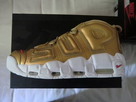 NIKE air more <strong>uptempo</strong> <strong>supreme</strong> gold - photo 1/5