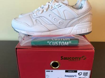 "<strong>Saucony</strong> Grid SD x TylerJBlake ""Triple White"" 1/100 DS New 9US - photo 1/5"