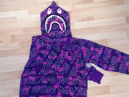 <strong>A</strong> <strong>Bathing</strong> <strong>Ape</strong> Shark Hoodie Purple Camo (Rare Edition) - photo 1/6