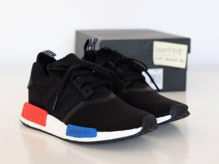 "Adidas NMD R1 ""OG"" Black / Lush Red US 9.5 · EU 43 New S79168 - photo 1/5"
