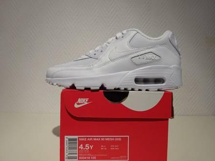 Nike Air Max 90 Triple White (GS) US4.5Y/EUR36.5 - photo 1/5