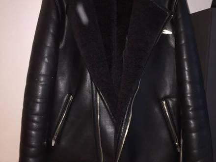 Zara thick faux leather jacket - photo 1/6