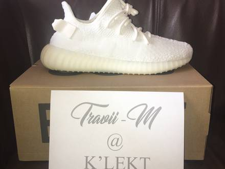 """Adidas <strong>Yeezy</strong> Boost <strong>350</strong> V2 <strong>Cream</strong> <strong>White</strong> """"Triple <strong>White</strong>"""" UK 8, US 8.5 - photo 1/5"""