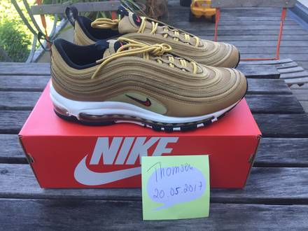 Nike <strong>Air</strong> <strong>Max</strong> <strong>97</strong> OG QS (<strong>Gold</strong>) - US 9.5 - photo 1/7