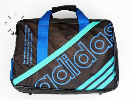 Vintage Adidas Originals handbag gym sports luggage travel bag 80s 90s DS deadstock Vintage NOS - photo 1/8