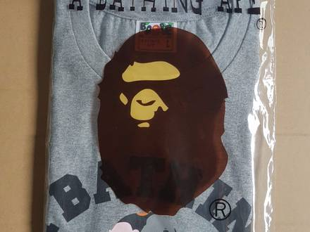 <strong>A</strong> <strong>Bathing</strong> <strong>Ape</strong> multi color camo college tee L - photo 1/6