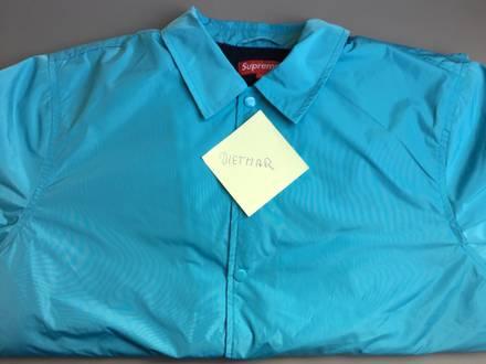 Supreme Coach Jacket Old English Light Blue / Baby Blue Size Large - photo 1/5