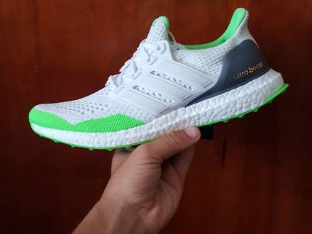Ultra Boost Kolor 1.0 White Flash Green - photo 1/5