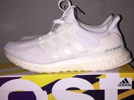 <strong>Adidas</strong> <strong>Ultra</strong> <strong>Boost</strong> 2.0 <strong>Triple</strong> <strong>White</strong> - photo 1/8