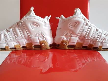 Nike Air More <strong>Uptempo</strong> White Gum / <strong>SUPREME</strong> - photo 1/6