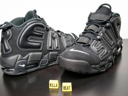 Nike Air More <strong>Uptempo</strong> <strong>Supreme</strong> Black EUR 44.5 US 10.5 - photo 1/8