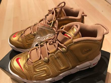 Nike <strong>Supreme</strong> <strong>Uptempo</strong> Suptempo Gold 44,5 / US 10.5 - photo 1/6
