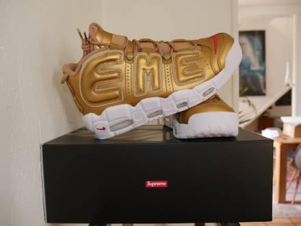 Nike air more <strong>uptempo</strong> x <strong>Supreme</strong> Gold (Suptempo) - photo 1/6