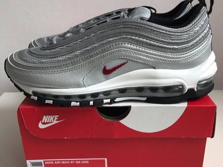 Nike <strong>Air</strong> <strong>Max</strong> <strong>97</strong> GS <strong>Silver</strong> Bullet US5.5Y 6Y - photo 1/5