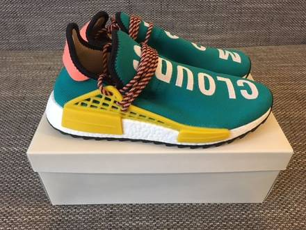 Pharrell williams x adidas nmd human race trail sun glow us9,5 - photo 1/6