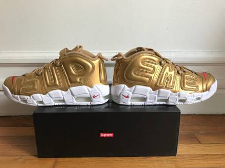Nike Air More <strong>Uptempo</strong> Gold <strong>Supreme</strong> - photo 1/6