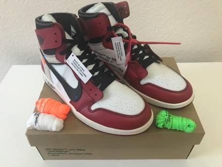 Nike the Ten: Jordan 1 x Off White | Nike Virgil Abloh 'AIR JORDAN 1' Off-White - photo 1/8