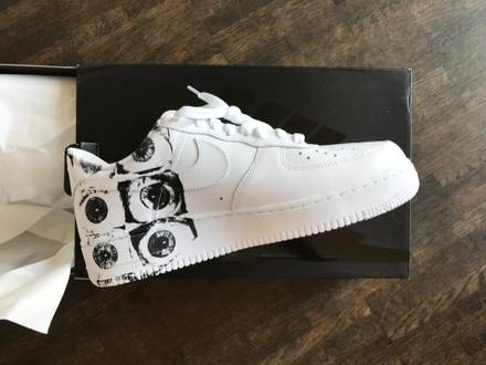 Supreme x <strong>Comme</strong> <strong>des</strong> <strong>Garcons</strong> x Nike Air Force 1 Eye White AF1 CDG US 13 / UK 12 / EU 47.5 New - photo 1/5