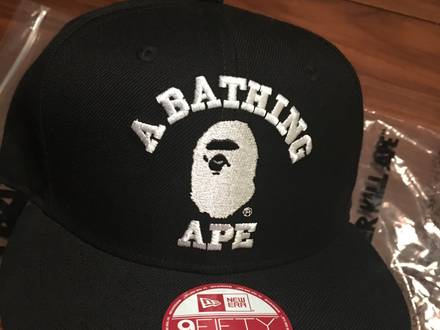 A BATHING APE x NEW ERA CAP Black - photo 1/5