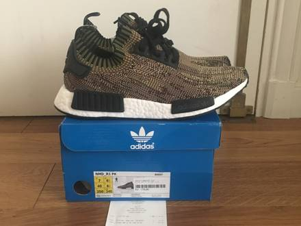 Adidas NMD PK Olive Glitch Camo 7 US DS <strong>Yeezy</strong> 350 <strong>Zebra</strong> Supreme CDG Kaws Jordan - photo 1/5