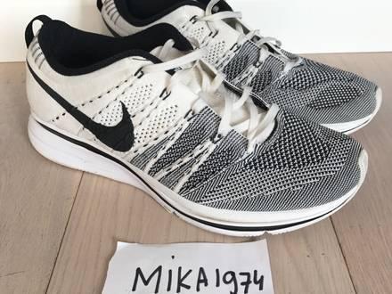 Nike Flyknit Trainer+ size 9.5 white/black - photo 1/8