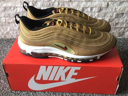 """Nike <strong>Air</strong> <strong>Max</strong> <strong>97</strong> OG QS """"Metallic <strong>Gold</strong>"""" (884421-700) (US 7.5 / 8 / 8.5) - photo 1/5"""