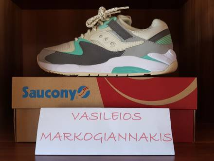<strong>Saucony</strong> Grid 9000 Light Tan/Charcoal/Mint (RETRO-VINTAGE) - photo 1/6