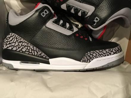Nike Air Jordan 3 retro black cement grey Countdown Pack CDP 2008 DS - photo 1/7