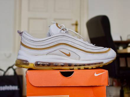 2003 Nike Air Max 97 White / Gold US11 / EUR 45 - photo 1/8