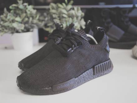 Adidas NMD (Tricolor) Pitch Black Custom - photo 1/6