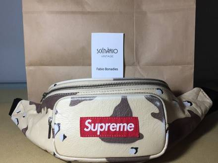 Supreme waist bag desert camo leather - photo 1/5