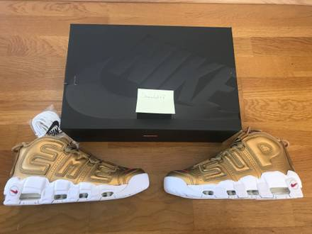 <strong>Supreme</strong> x Nike Air More <strong>Uptempo</strong> Gold - photo 1/5