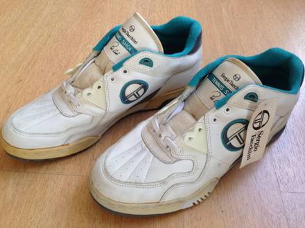 1990s pat cash sergio tacchini vintage tennis shoes size us11 unworn! - photo 1/7