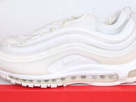 Nike Air Max 97 OG Triple White Snake Skin US 12.5 UK 11.5 47 Summer Scales 921826-100 1 US 12 11 - photo 1/5