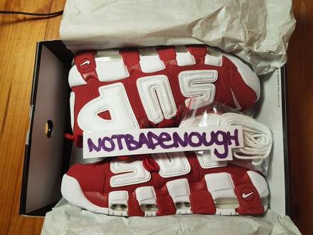 The <strong>Supreme</strong> x Nike Air More <strong>Uptempo</strong> Red - photo 1/5