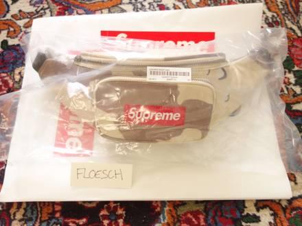 Supreme SS17 Leather Waist Bag : Desert Camo - photo 1/8