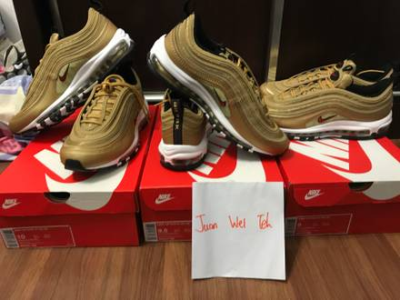 Nike <strong>Air</strong> <strong>Max</strong> <strong>97</strong> OG QS Metallic <strong>Gold</strong> /<strong>Gold</strong> Bullet - photo 1/5