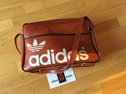 Vintage Adidas Leather bowling bag - photo 1/7