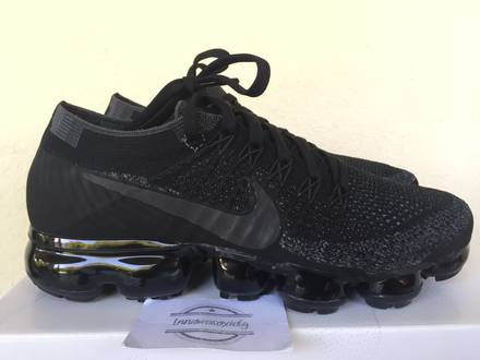 Nike air Vapormax flyknit triple black size 6 us, 5 uk, 38.5 eu nikelab lab - photo 1/7