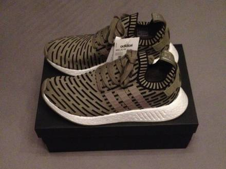 Adidas Nmd R2 Pk Size 9.5 Olive Green Authentic Confirmed Ba7198